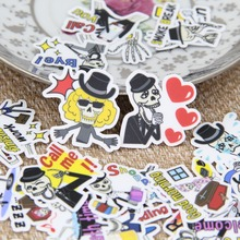 40 pcs/ Funny skull English expression account