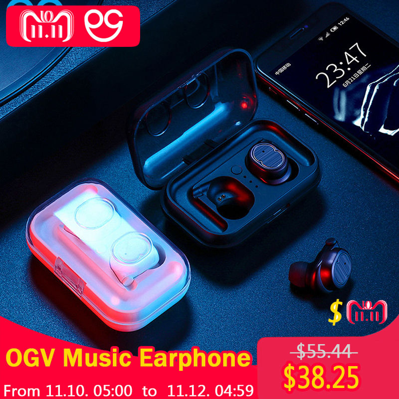 OGV Stereo Music Earphones Binaural call Bluetooth 5.0 Headset Sports Headphones Jogging Earbud For iPhoneSE 7 8 Xiaomi Sony