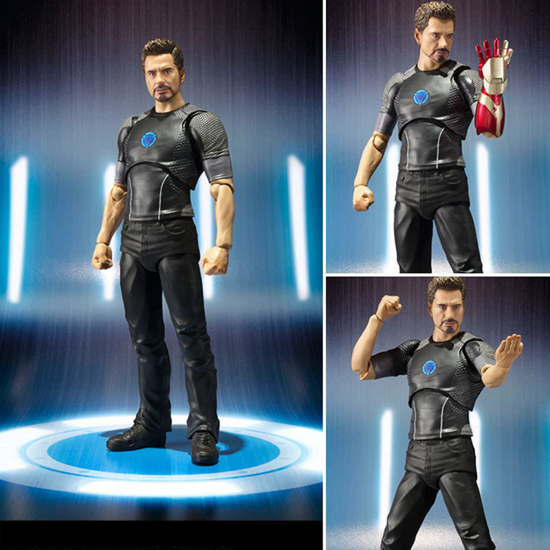 NEW hot 15cm Iron man the Avengers Tony Stark Spider-Man Super Heroes Action Figure toys doll Christmas Gifts for Children free shipping the avengers the amazing spider man movie spiderman will light 17cm pvc action figure toys new christmas gifts