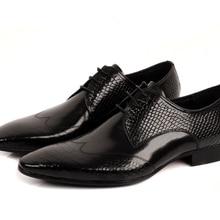 9cef1cbc01c De gran tamaño EUR45 serpentina negro/marrón Oxfords para hombres zapatos  de negocios zapatos de