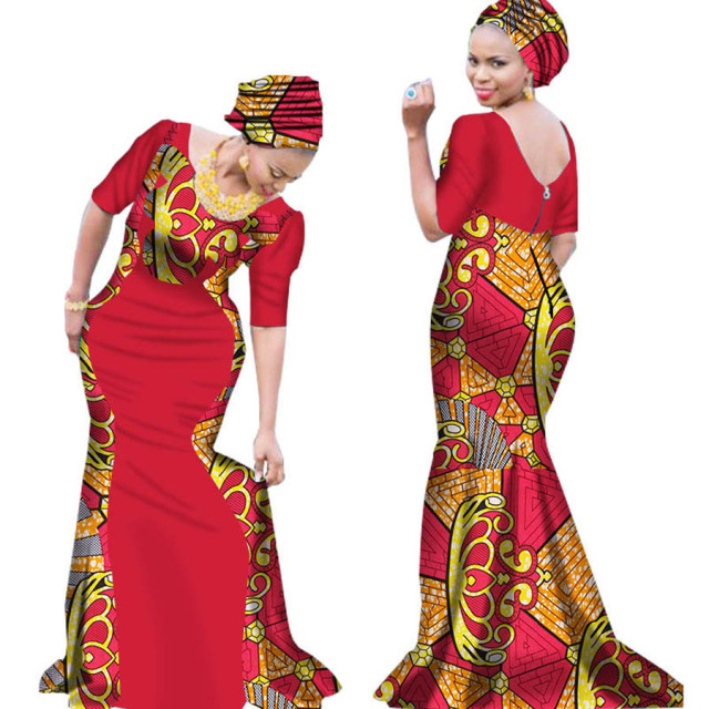 c0b14ad9f8430 2018 African women banquet dresses wax fabric print evening formal maxi  plus big size dashiki ankara African clothing long dress