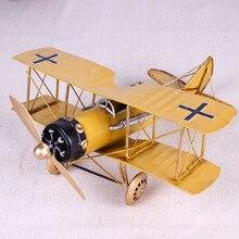 빈티지 금속 비행기 홈 장식품 항공기 모델 완구 어린이 비행기 미니어처 모델 레트로 크리 에이 티브 홈 장식