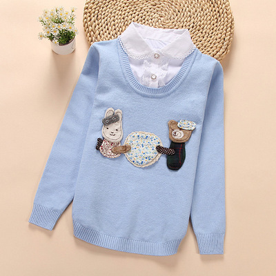Childrens Sweater 2016 Spring and Autumn Children Cartoon Turtleneck Sweater Girl Lapel SweaterChildrens Sweater 2016 Spring and Autumn Children Cartoon Turtleneck Sweater Girl Lapel Sweater