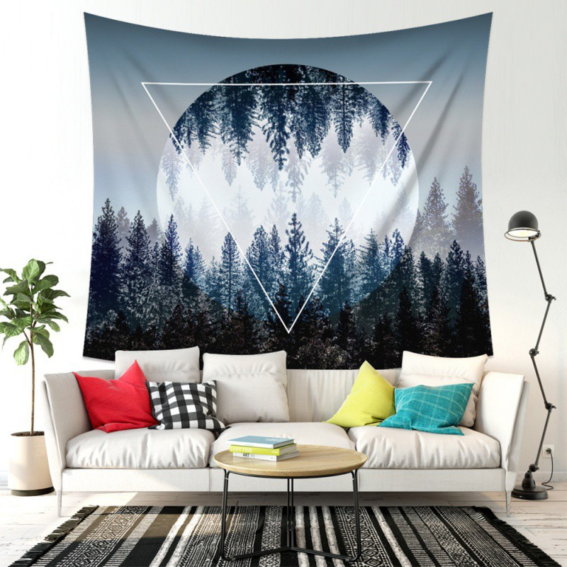 Woodland Pattern Tapestry Outdoor Interior Wall Carpet Multi Purpose Interior Decoration For Tapestry Beach Towel Tablecloth|Decorative Tapestries| |  - title=