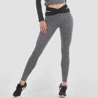 Sexy Cross Belt Women Yoga Pants Fitness Sport Leggings Slim Running Tights Sportswear Quick Drying Training Trousers Sportswear