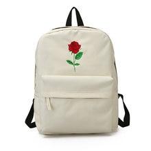 51df97fbd38d 2018 Men Heart Canvas Backpack Women School Bag Backpack Rose Printing  Backpacks for Teenagers Women s Travel Bags Mochilas