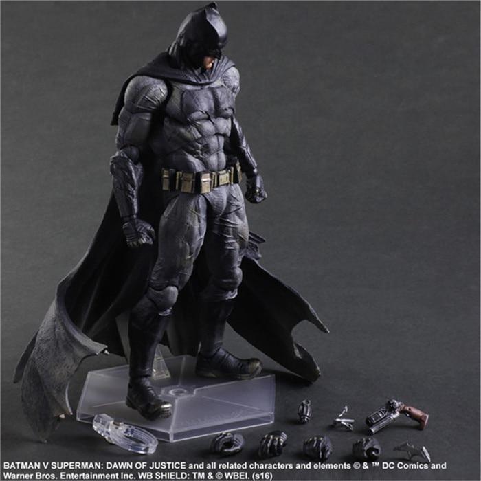 ФОТО Batman Action Figures Play Arts Kai Dawn of Justice PVC Toys 270mm Anime Movie Model Heavily-armored Bat Man Playarts Kai