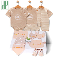 HH Brand 11 PCS baby clothes 100% Cotton baby girl summer clothes tshirt+short Pant+Romper Baby Boys Pajamas newborn clothes