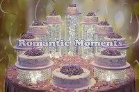 9PCS/LOT Wedding Cake Holders Wedding Crystal Cake Stand Wedding Centerpiece Cake Display Wedding Decoration Party Props