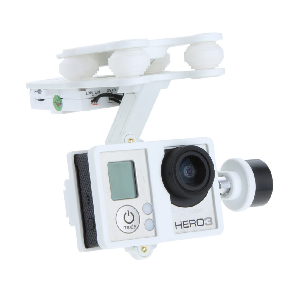F10151 Original Walkera White Plastic Version G-2D Brushless Gimbal for iLook/GoPro Hero 3 on X350 Pro FPV Quadcopter RC Plane walkera g 2d camera gimbal for ilook ilook gopro 3 plastic version