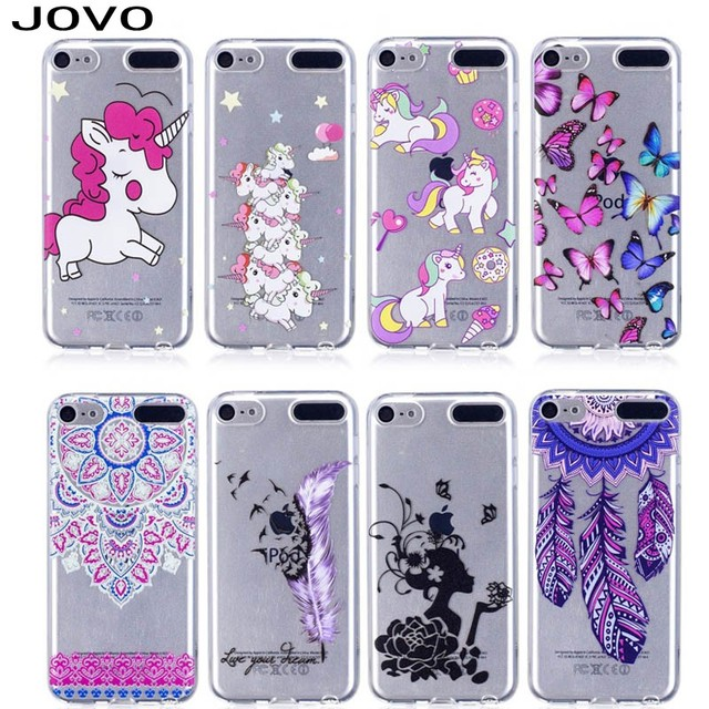 best loved c5d17 5e816 US $1.59 |JOVO Unicorn Horse Case Soft TPU Phone for iPod Touch 5 6 Cover  Phone smartphone Cartoon Horse Capa-in Fitted Cases from Cellphones & ...