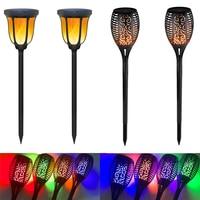 96 LEDs Solar Flame Flickering Garden Lamp Torch Light IP65 Outdoor Spotlights Landscape Decoration Led Lamp for Garden Pathways