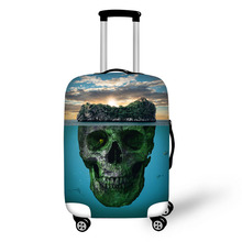 Skull pattern Elastic Luggage Protective Cover Zipper Suit For 18-30 inch Trunk Case Travel Suitcase Covers Bags недорого