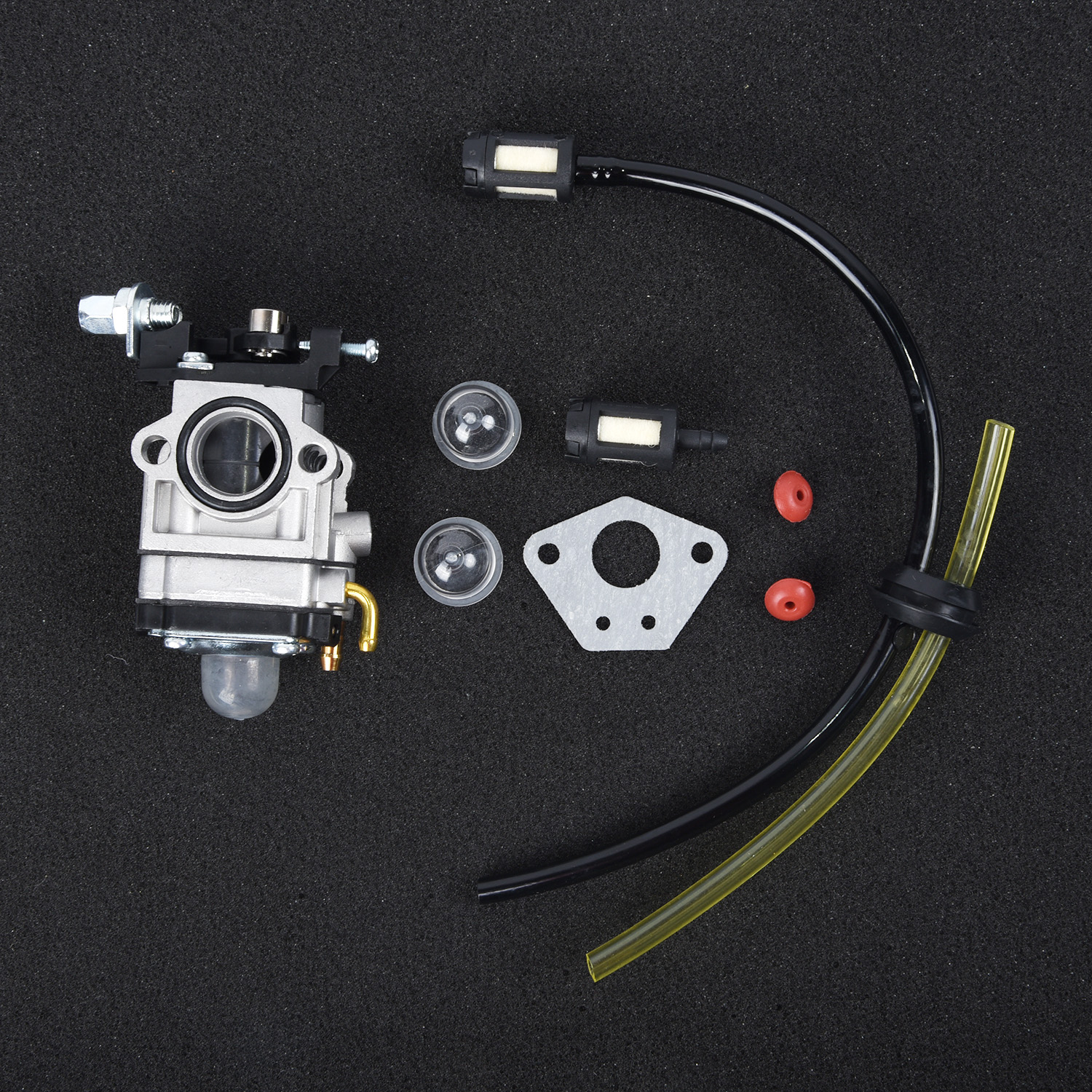 15mm Carburetor Kit For Various Strimmer Hedge Trimmer Brush Cutter Chainsaw Lawn Mover Parts Primer Bulb Gasket Fuel Filter