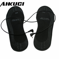 Electric Shoes For Size 38 46 EVA Material Warming Flexible Black Walking Heated Insoles