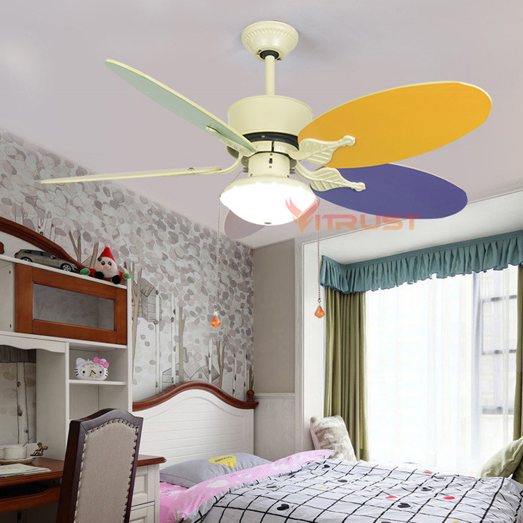 Us 127 95 36 Off Cute Child Ceiling Fan Lamp Modern Kids Fans With Lights For Kid Bedroom Living Room Light In From