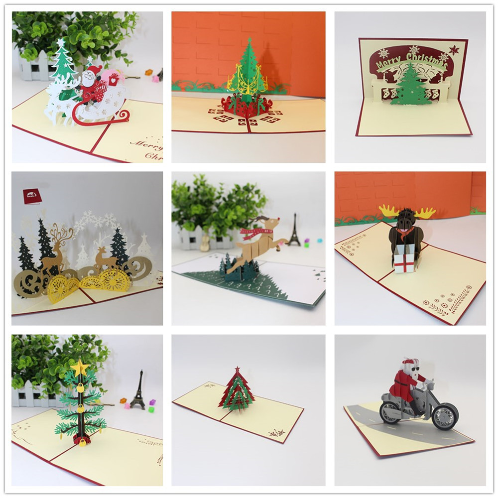 New Year Christmas Decorations For Home cardstock 3D ...