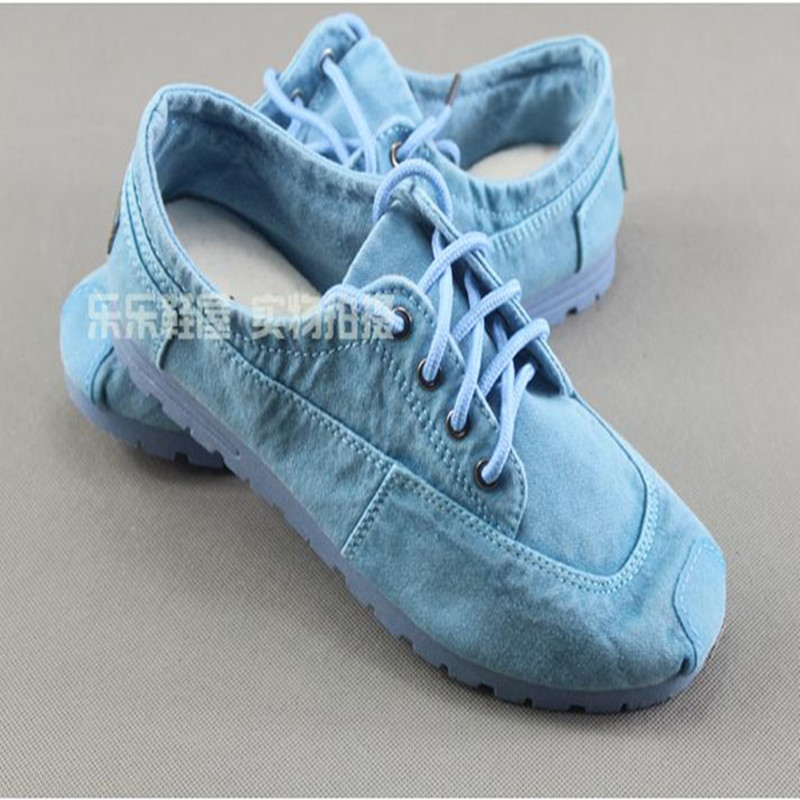 cotton made beijing autumn shoes denim canvas shoes casual