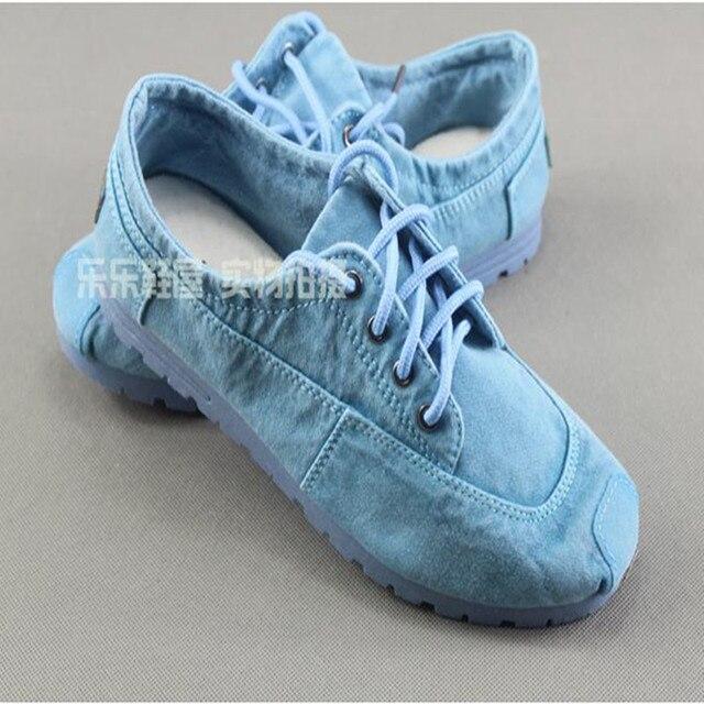 Cotton-made beijing autumn shoes denim canvas shoes casual shoes fashion comfortable low women's shoes