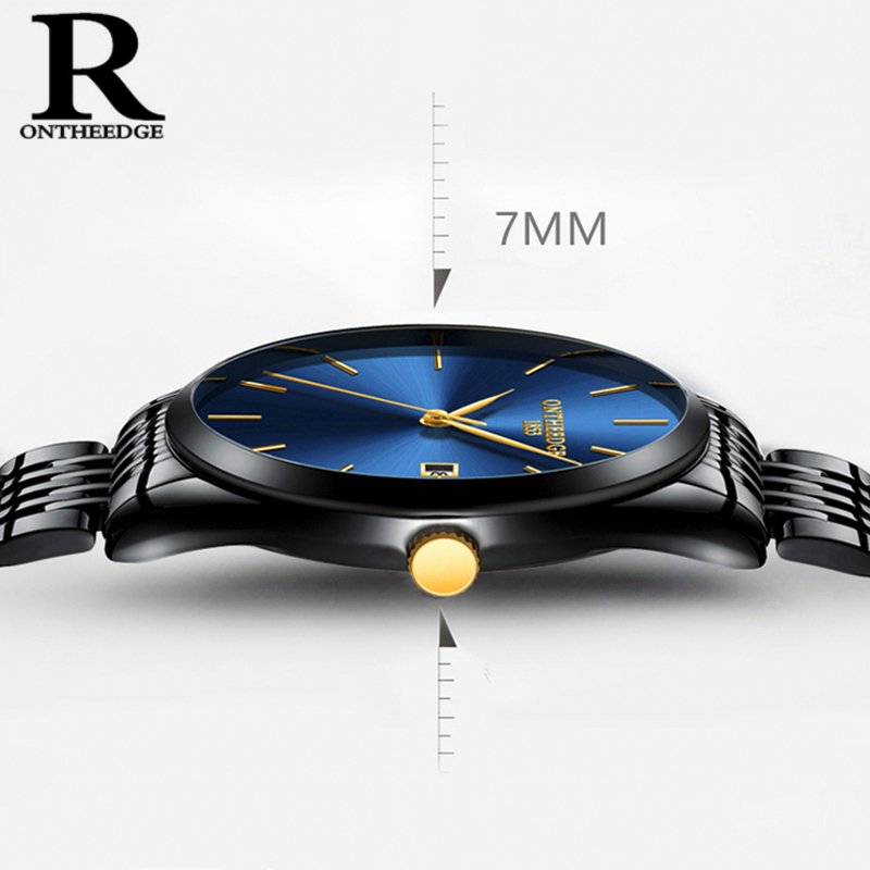 Special Price!Top Brand Ultra Thin Men Business Watch Luxury Full Stainless Steel Quartz Watch Men Fashion Calendar Date Relogio цена