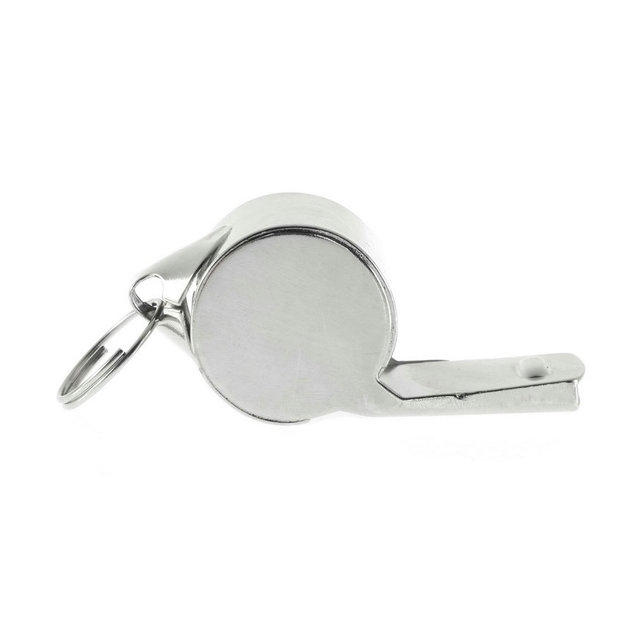 Silver-colored Soccer Referee Whistle