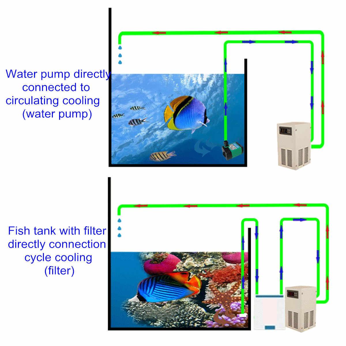 LCD عرض الماء المبرد تبريد جهاز 35L 72 واط حوض السمك للدبابات المستمر التبريد معدات التحكم في درجة الحرارة أدوات