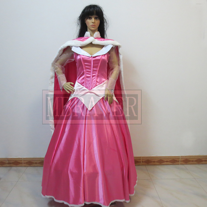 Princess aurora cosplay sleeping beauty costumes Custom made Any Size