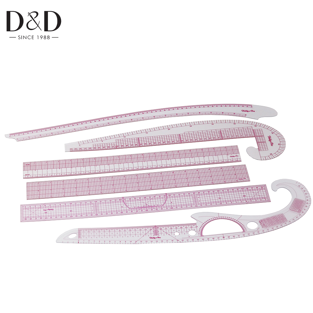 1 Piece Plastic Sleeve Button Cutting Ruler Clothing Sample Pockets Collar Drawing Tailor Ruler Curve Sewing Tools Accessory Clothing Curve Ruler