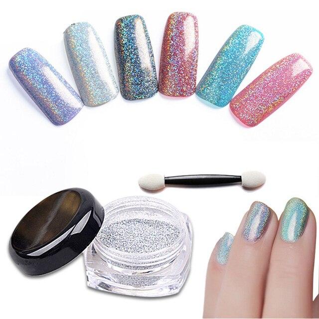 Aliexpress.com : Buy New 2g Holographic Nail Glitter Powder Chrome ...