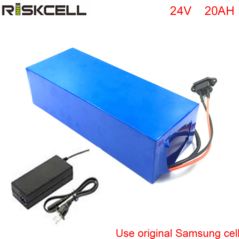 DIY 24V 700W Caddy de golf eléctrico batería 24V 20Ah Paquete de batería de iones de litio con cargador para Samsung celular