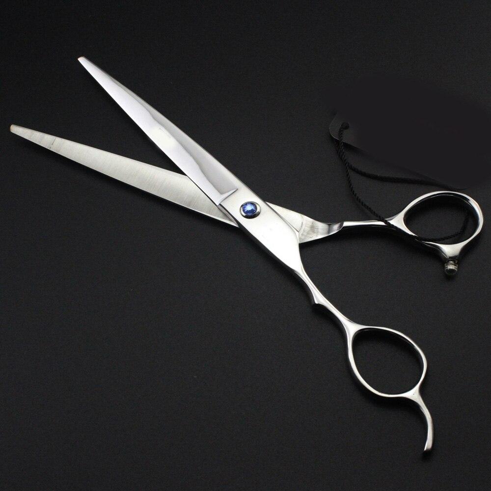 Engrave Laser Name Japan 440c 7'' Left Hand Hair Scissors Cutting Barber Makas Hair Scissor Haircut Shears Hairdressing Scissors
