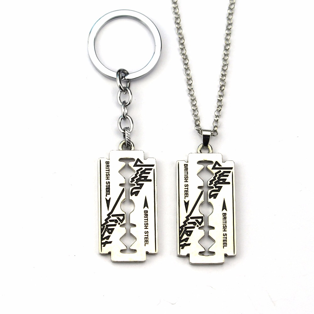 New fashion Judas Priest Band Silver Tone Blade Pendant Necklace For Women Men Gift ...