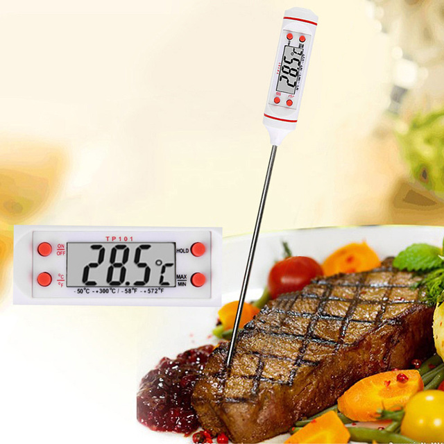 New Kitchen Digital Probe Thermometer Cooking BBQ Food Probe Meat Water Milk Electronic Thermometer Kitchen Tools