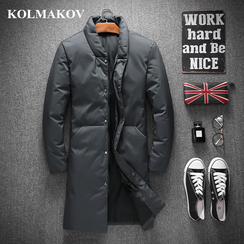 KOLMAKOV Men Clothes 2018 New Arrival Duck   Down     Coats   for Men Winter Thicken Mens Parkas M-4XL Casual   Down   Jackets Masculino