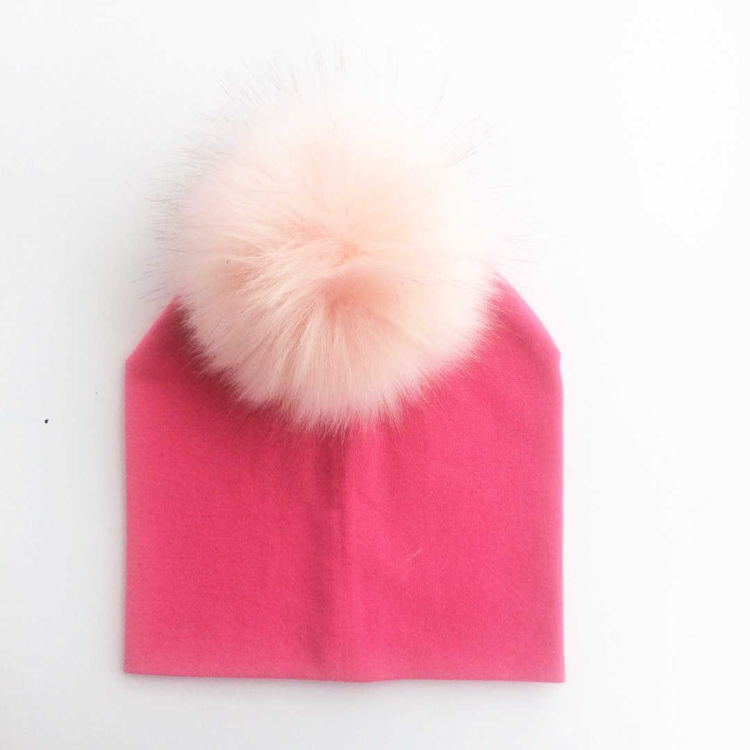 Child Baby Toddler Kids Girls Boy Warm Hat Winter Beanie Knitted Cap New infant cotton colorful raccoon faux fur pom pom hat cap