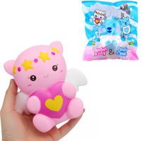 Newest Yummiibear Angel Kitty Panda Cloud Squishies Toy Slow Rising 14cm Anti Stress Kids Collection Gift