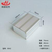 1 sztuka aluminiowa obudowa dla projektu elektroniki box przypadku 46 (H) x76 (W) x100 (L) mm 8042 w Złącza od Lampy i oświetlenie na
