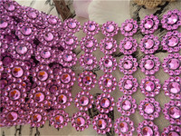 3.75 10Yards 6rows Daisy Flower Diamond Mesh Bling Crystal Ribbon Wrap Trim Wedding Cake Candle Holder Decoration