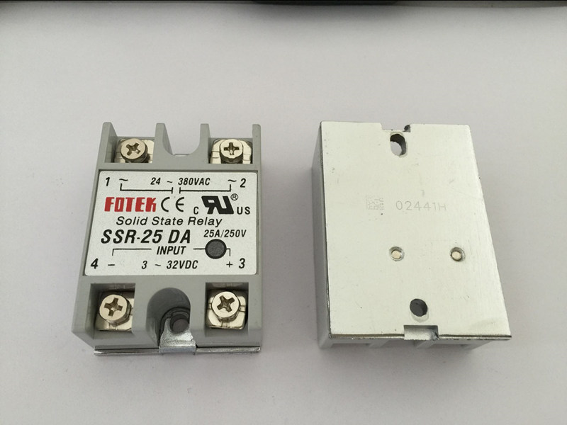 1PCS SSR25DA SSR-25DA Manufacturer 25A ssr relay,input 3-32VDC output 24-380VAC normally open single phase solid state relay ssr mgr 1 d48120 120a control dc ac 24 480v