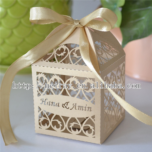 Indian wedding decoration laser cut wedding gifts for guests,champagne ...