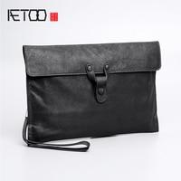 AETOO Sheepskin handbag men's leather fashion business casual envelope bag trend men's handbag