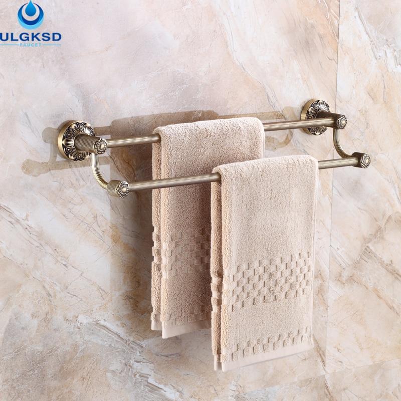 Ulgksd special process bathroom accessory double shelves - Bathroom accessories towel racks ...