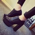 2017 Zapatos de las mujeres Botas de tacón alto de Los Zapatos Zapatos de Plataforma Tacones Gruesos Zapatos de Tacón Alto Bombas Para Niñas DFGD-99-1