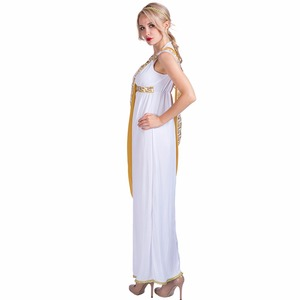 Image 2 - Women Sexy Greek Goddess Roman Lady Egyptian Costume Cosplay White Jumpsuit Robe Fancy Dress for Female Adult Halloween Costumes