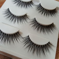 New 3 Pairs Natural 3D Eye Lashes Makeup Soft Handmade Thick Fake Cross False Eyelashes Fashion Women Beauty
