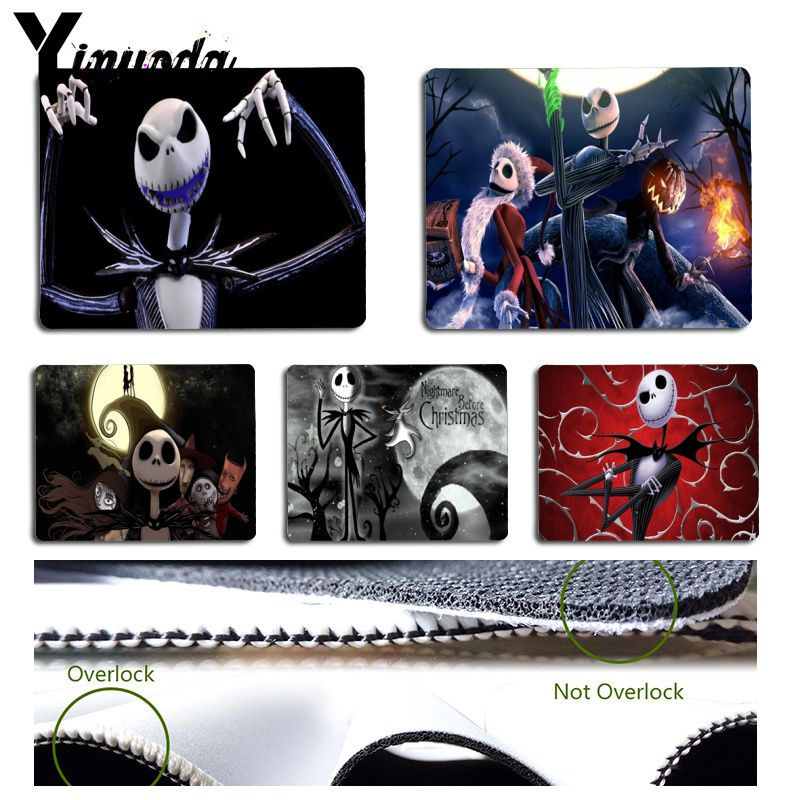 Yinuoda Jack Skellington The Nightmare Before Christmas Laptop Gaming Mouse Pad Size For Size For 180x220x2mm And 250x290x2mm