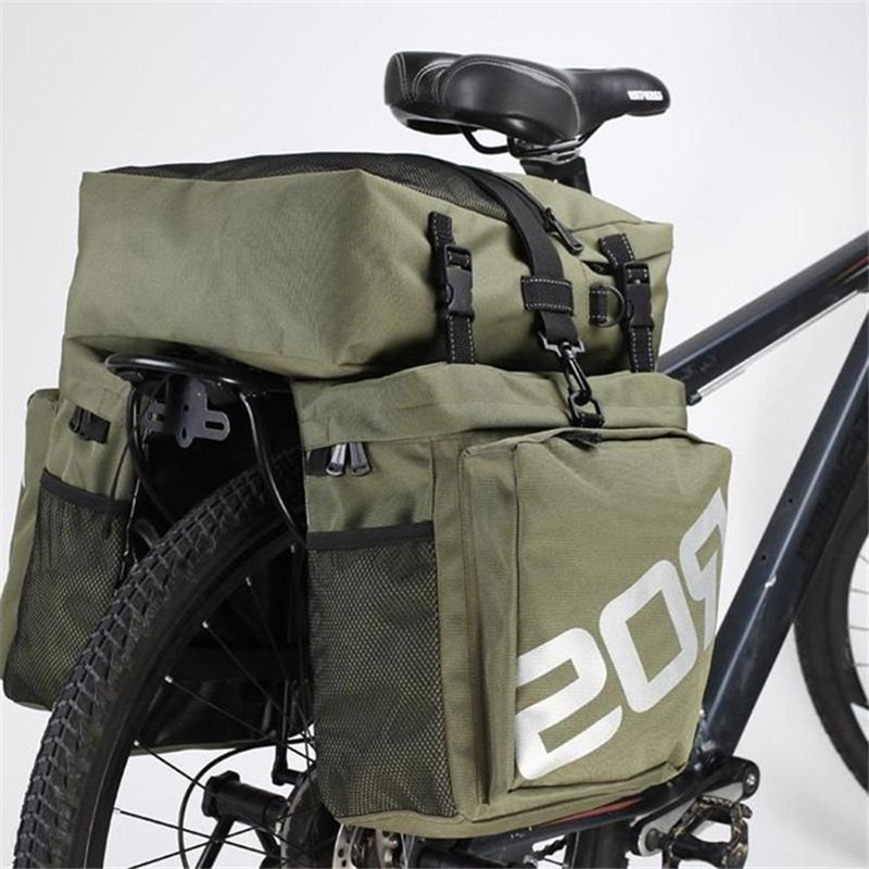ROSWHEEL 37L MTB Mountain Bike Rack Bag Rear Seat Trunk Bag 3 in 1 Multifunction Road Bicycle Pannier 2018 New Arrival rockbros large capacity bicycle camera bag rainproof cycling mtb mountain road bike rear seat travel rack bag bag accessories