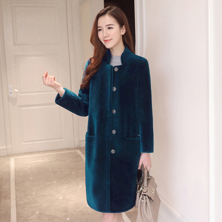Women's Winter Jacket 2019 Female Sheepskin Fur Jackets Autumn Clothes Oversize Outwear Wool Lady Elegant Korean Sheep Fur Coat