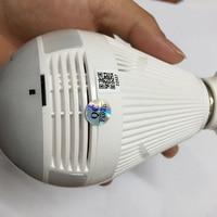 ir led FY-Q2 Panoramic 360 VR 960P 1.3MP HD IP Mini Camera Smart LED Lights Cam Starlight IR Night Vision Bulb Home Security Camera (5)