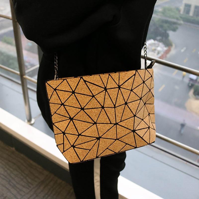 KAOGE Vegan Natural Cork Chain Bag For Women 2019 Handbag Female Luxury Hand Bags Shoulder Crossbody Bags For Women Designer Bao